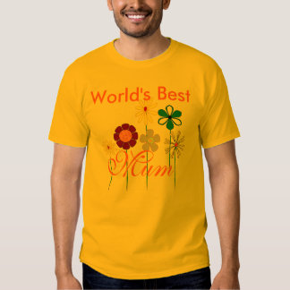 World's Best Mum bright flowers for her T-shirts