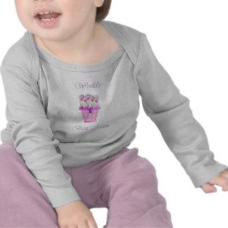 World's Best Mum (pink flowers) T-shirt