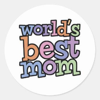 Worlds Best Mum T-Shirts & Gifts Round Sticker