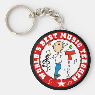 World's Best Music Teacher Key Ring