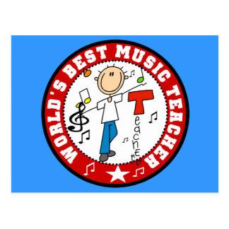 World's Best Music Teacher Postcard