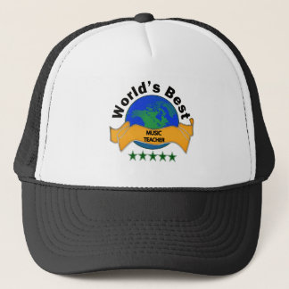 World's Best Music Teacher Trucker Hat