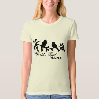 World's Best Nana birds silhouette organic T-shirt