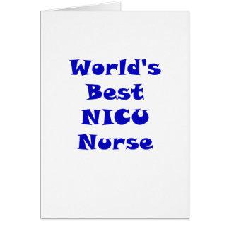 Worlds Best NICU Nurse Card