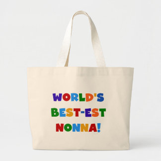 World's Best Nonna Bright Colors T-shirts and Gift Jumbo Tote Bag