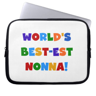 World's Best Nonna Bright Colours T-shirts and Laptop Computer Sleeve