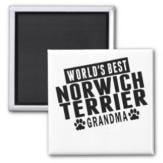 World's Best Norwich Terrier Grandma Magnet
