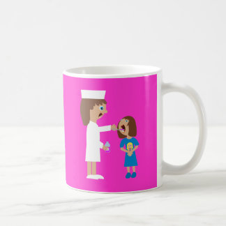 World's Best Nurse Cute Cartoon Nurse & Child Coffee Mug