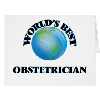 World's Best Obstetrician Card
