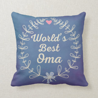 World's Best Oma grandma Wreath Keepsake Gift Throw Pillow