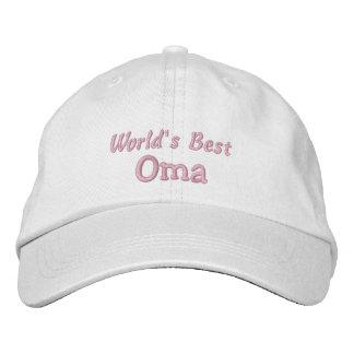 World's Best Oma-Grandparent's Day OR Birthday Embroidered Baseball Caps
