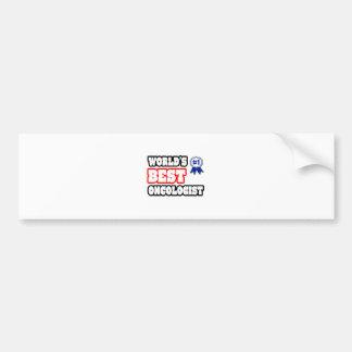 World's Best Oncologist Bumper Sticker