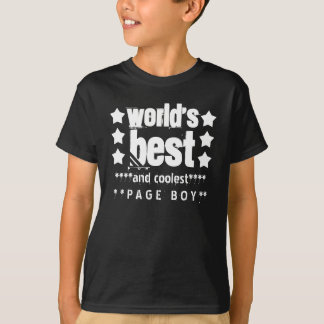 World's Best PAGE BOY with STARS A07 T-Shirt