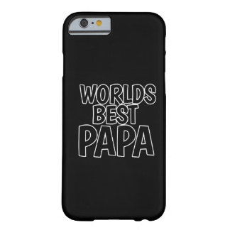 Worlds Best Papa Barely There iPhone 6 Case
