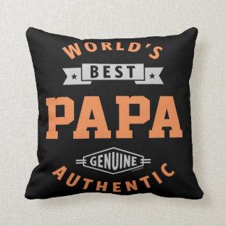 World's Best Papa Cushion