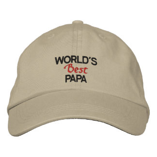 World's best papa embroidered cap baseball cap
