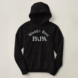 World's Best Papa Embroidered Hoodie