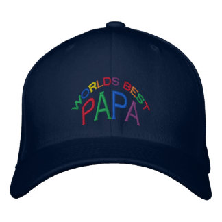World's Best Papa Hat Embroidered Baseball Caps