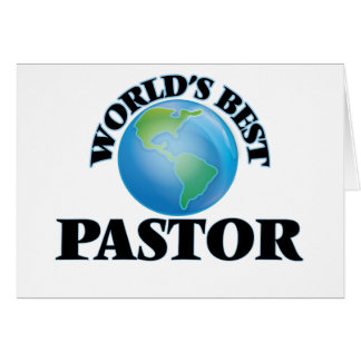 World's Best Pastor Card
