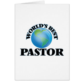 World's Best Pastor Greeting Cards