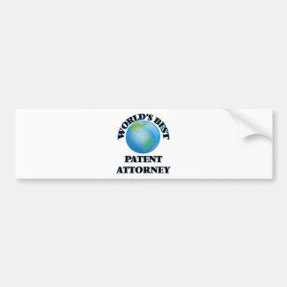 World's Best Patent Attorney Bumper Sticker