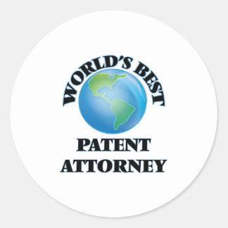 World's Best Patent Attorney Round Sticker