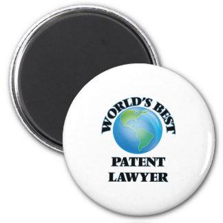 World's Best Patent Lawyer 6 Cm Round Magnet