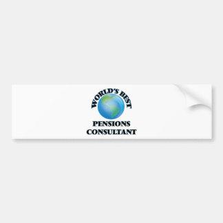 World's Best Pensions Consultant Bumper Sticker