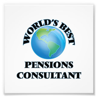 World's Best Pensions Consultant Photo Art