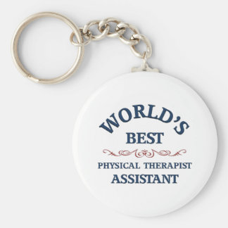 World's best Physical Therapist Assistant Basic Round Button Key Ring