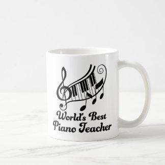 Worlds Best Piano Teacher Coffee Mug