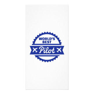 World's best Pilot Personalised Photo Card