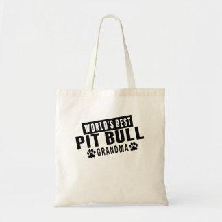 World's Best Pit Bull Grandma Tote Bag