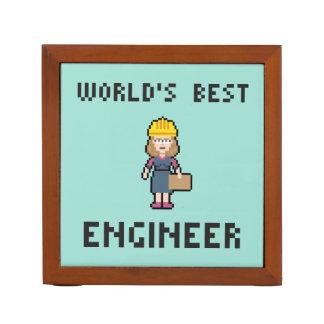 World's Best Pixel Female Engineer Desk Organiser
