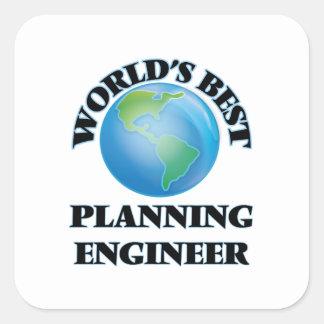 World's Best Planning Engineer Square Sticker