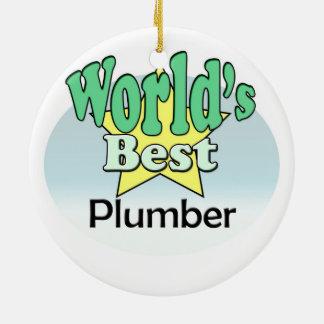 World's best Plumber Ceramic Ornament