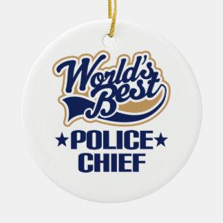 Worlds Best Police Chief Ornament Keepsake Gift