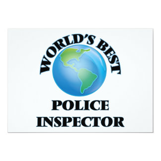 World's Best Police Inspector Card