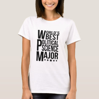 World's Best Political Science Major T-Shirt