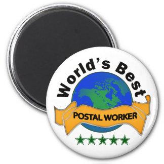 World's Best Postal Worker 6 Cm Round Magnet