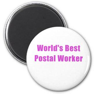 Worlds Best Postal Worker 6 Cm Round Magnet