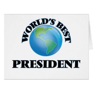 World's Best President Card