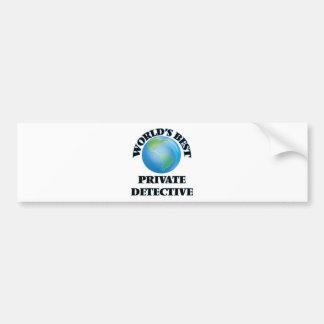 World's Best Private Detective Bumper Stickers