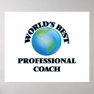 World's Best Professional Coach Print