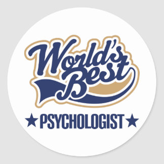 Worlds Best Psychologist Round Stickers