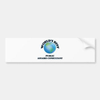 World's Best Public Affairs Consultant Bumper Sticker