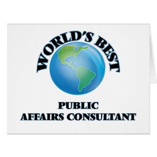 World's Best Public Affairs Consultant Card