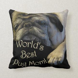 World's Best Pug Mom Cushion