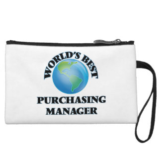 World's Best Purchasing Manager Wristlet Purses