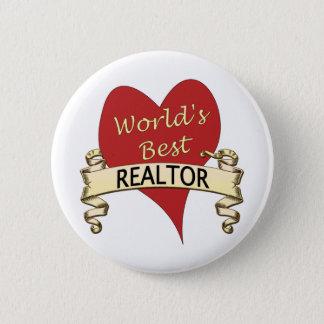 World's Best Realtor 6 Cm Round Badge